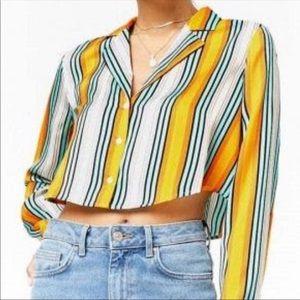 Yellow Striped Button Down✨